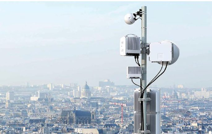 Ericsson has developed an extensive wireless backhaul equipment portfolio spanning short- and long-haul, indoor, outdoor and split-mount architectures that will be integral for 5G deployment, including this rooftop Ericsson macro Minilink overlooking Paris. (Image © Ericsson)