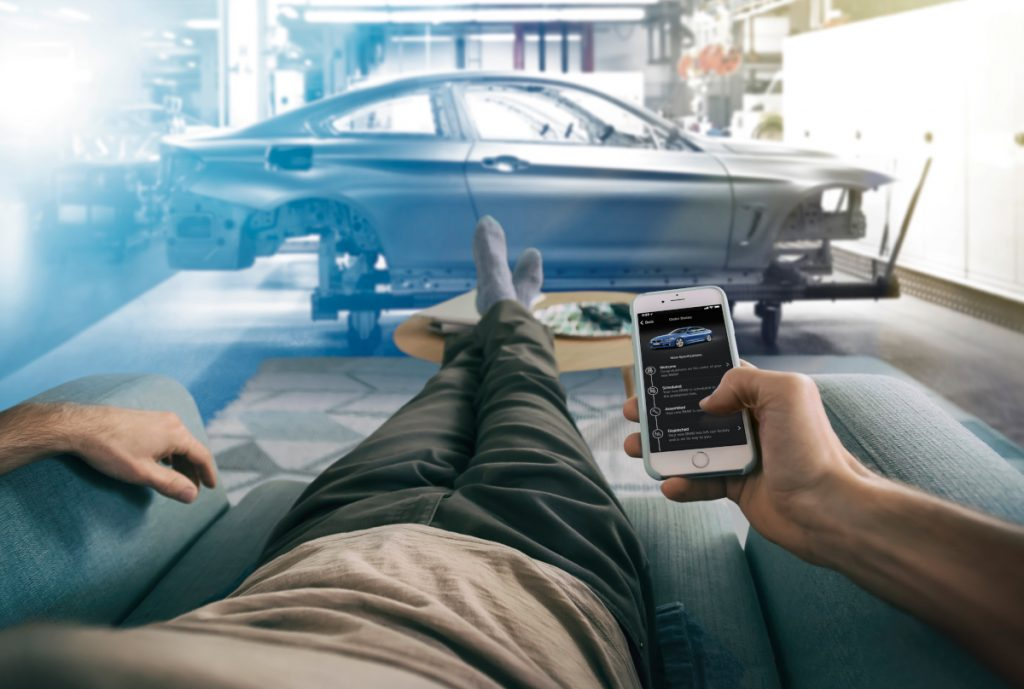 The 'My Car is Born' feature on the BMW Connected app allows customers to track the progress of their new car as it is being built. (Image © BMW Group)