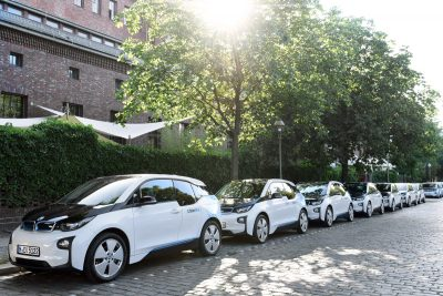 BMW's DriveNow car-sharing program, in conjunction with Sixt, operates 2,400 vehicles in Germany, Austria and the UK. (Image © BMW AG)