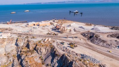 The Dutra Group uses drones from Skycatch to map and provide precision topographic data at the San Rafael Rock Quarry in Marin County, Northern California, just outside the San Rafael city limits. Building materials from the quarry have a role in about 90% of Marin County projects. (Image © Skycatch)