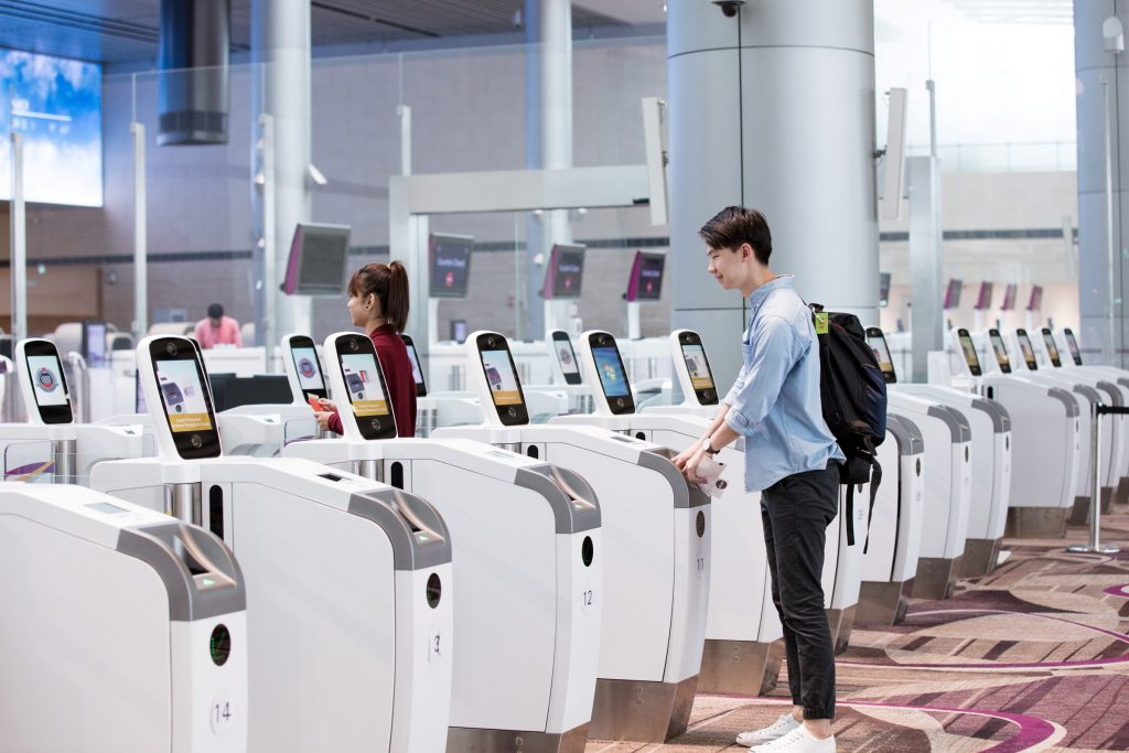 Singapore's Changi Airport Terminal 4 offers travelers a start-to-end automated process, from check-in to boarding. (Image © Changi Airport Group)