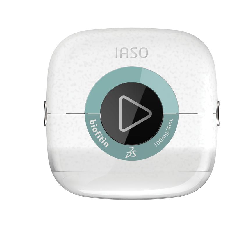 Dans le cadre du projet pilote de DassaultSystèmes, IASO est un produit combiné, qui allie le médicament au dispositif médical. (Image © DassaultSystèmes)