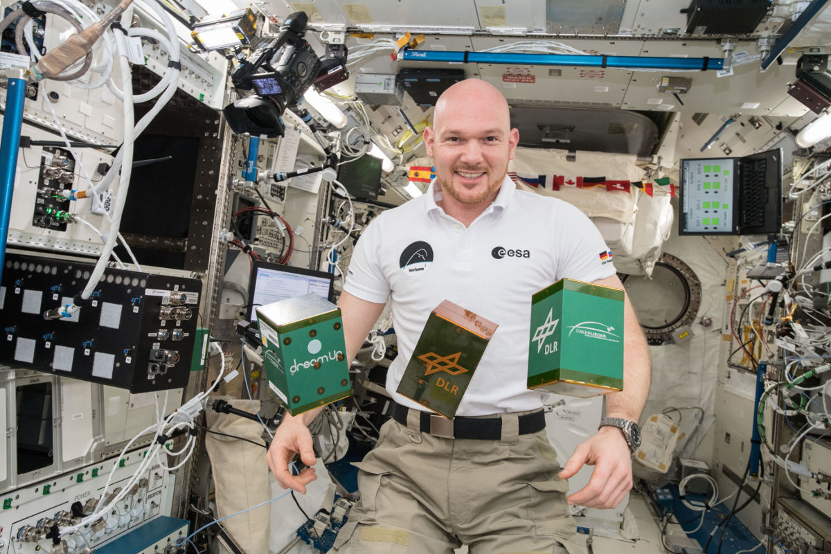German astronaut Alexander Gerst conducted the EXCISS experiment in a weightless area on the International Space Station. (Image © NASA)