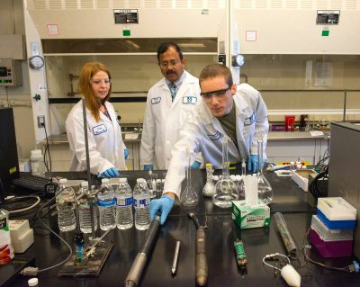UMass Lowell's Francis College of Engineering in Massachusetts runs projects with 25 companies each year, creating valuable preparation for students entering the workforce. (Image © UMass Lowell)