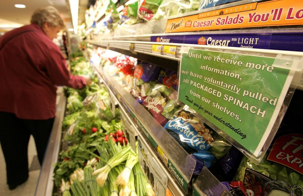 The US Food Safety Modernization Act was passed to prevent contaminated food from reaching consumers, rather than simply recalling it after an outbreak of food-related illness.The US Food & Drug Administration, which enforces the act, has focused on rigorous data collection processes as the best method of prevention. (Image © Justin Sullivan / Getty Images)