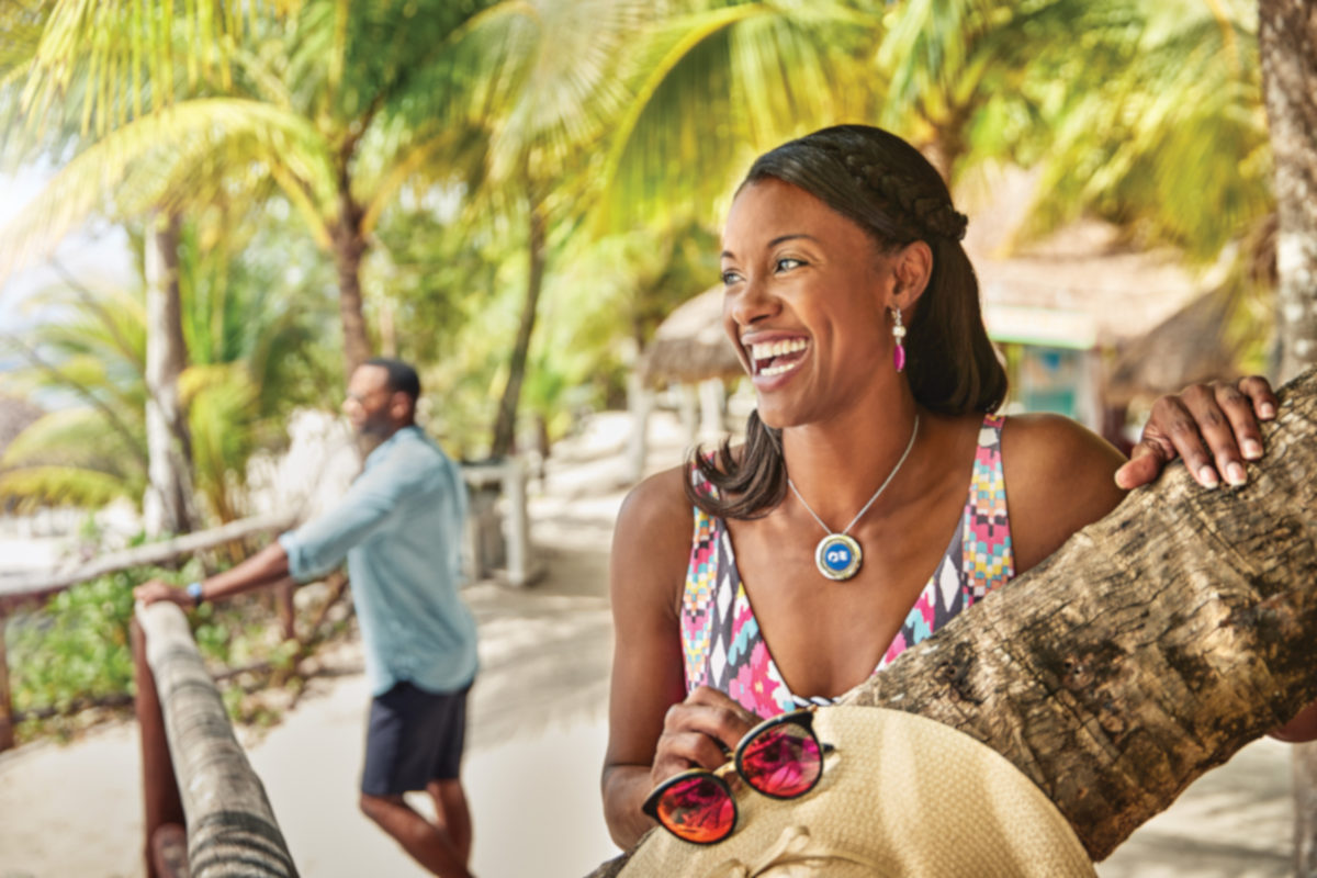 Princess Cruises' Ocean Medallion technology, worn on the wrist or as a necklace, allows passengers to customize their experience, including registration for port excursions such as this visit to Cozumel, Mexico. (Image © Princess Cruises)