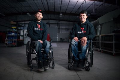 Rob Parsons, left, and Andy Blood operate Runnit CNC, a machine shop in Grand Junction, Colorado, that devotes much of its time and resources to designing and fabricating adaptive vehicle modifications for wheelchair users. (Image © Rob Parsons)