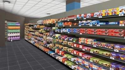 Virtual 3D replica of the store provides real-time information on every product. (Image © SES-imagotag)