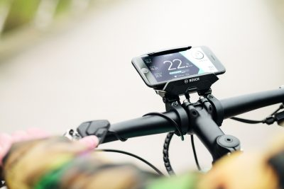 Bosch eBike Systems' smartphone solution allows cyclists to augment their exercise with digital technology, providing a smart riding experience that can help users stick to their regimes.  (Image ©Bosch)