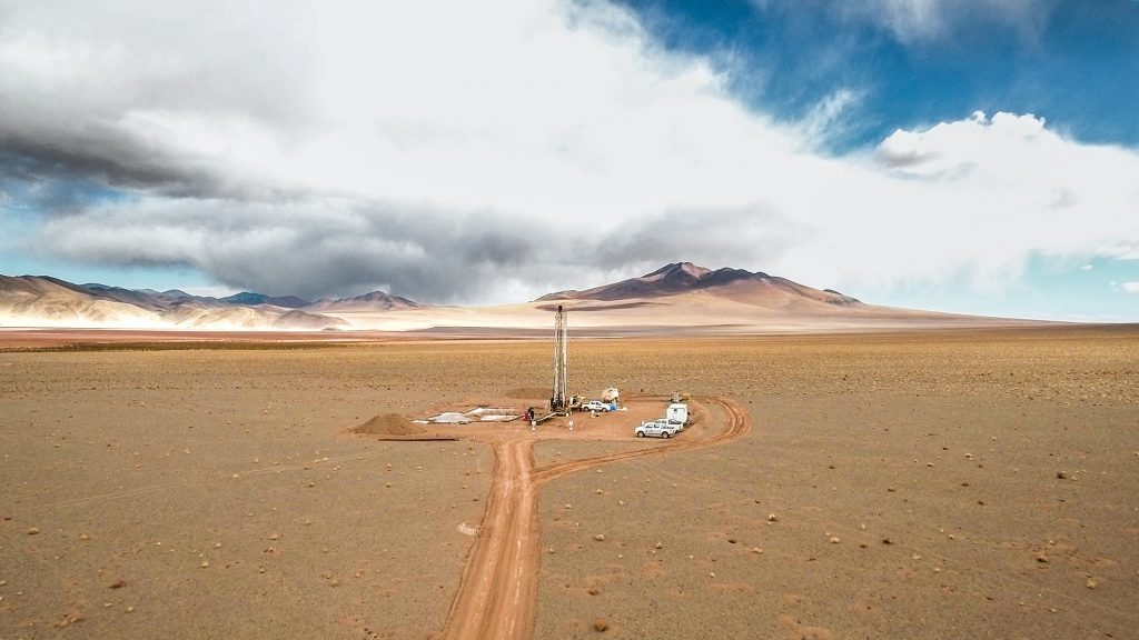 Underground liquid brine deposits site, also known as salars, located in Argentina (Image © ERAMET)