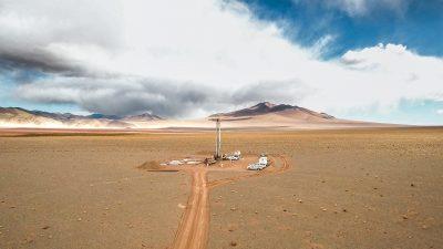 Underground liquid brine deposits site, also known as salars, located in Argentina (Image © ERAMET)