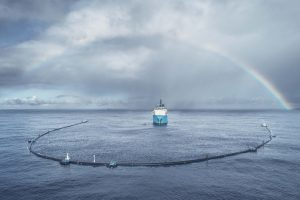The Ocean Cleanup used 3D simulation to design and improve the boom design for its plastic-collections effort in the Great Pacific Garbage Patch. 3D design and simulation can increase the pace and effectiveness of design and reduce the need for physical prototypes. (Image © The Ocean Cleanup)