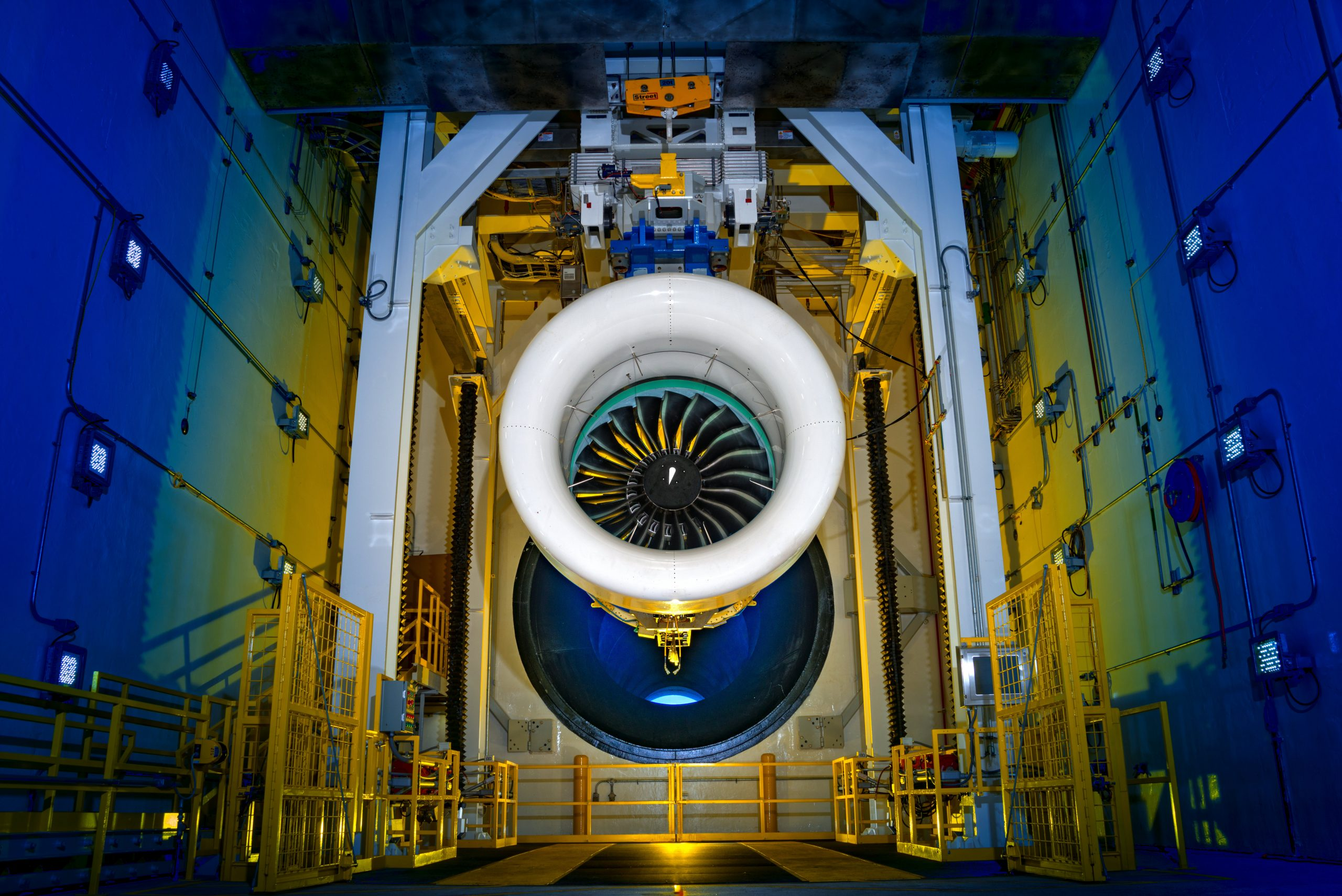 Pratt & Whitney's Geared Turbofan Engine has enabled some commercial aircraft to achieve 16% reduction in fuel consumption, 75% reduction in noise and 50% reduction in nitrogen oxide emissions. (Photo courtesy of Pratt & Whitney)