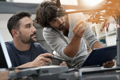 Students who graduate from accredited engineering programs are better prepared for the workplace because they are taught to look for innovative ways to develop solutions and solve challenges. (Image © Adobe Stock)