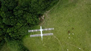 Among the long-range, solar-powered surveillance tasks that XSun drones might do: oil and gas pipeline surveillance; scans of railway lines; detection of oil slicks or illegal dumping at sea; and monitoring of wildlife, forests and livestock. (Image © Jeremy Levin)