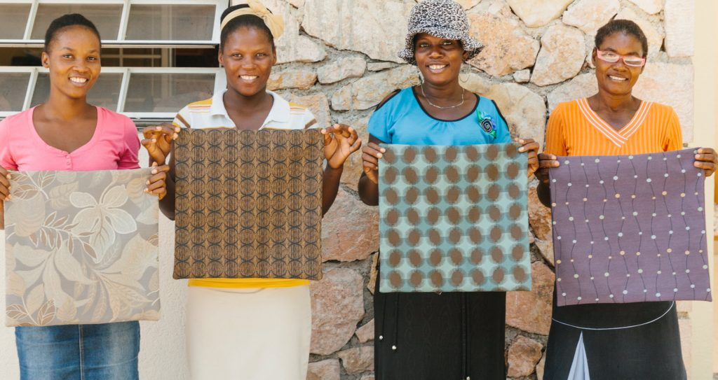 Rather than being sent to landfills as waste, Herman Miller's textile scraps help fuel economic prosperity for once-struggling mothers in Port-Au-Prince, Haiti. (Image © Herman Miller)