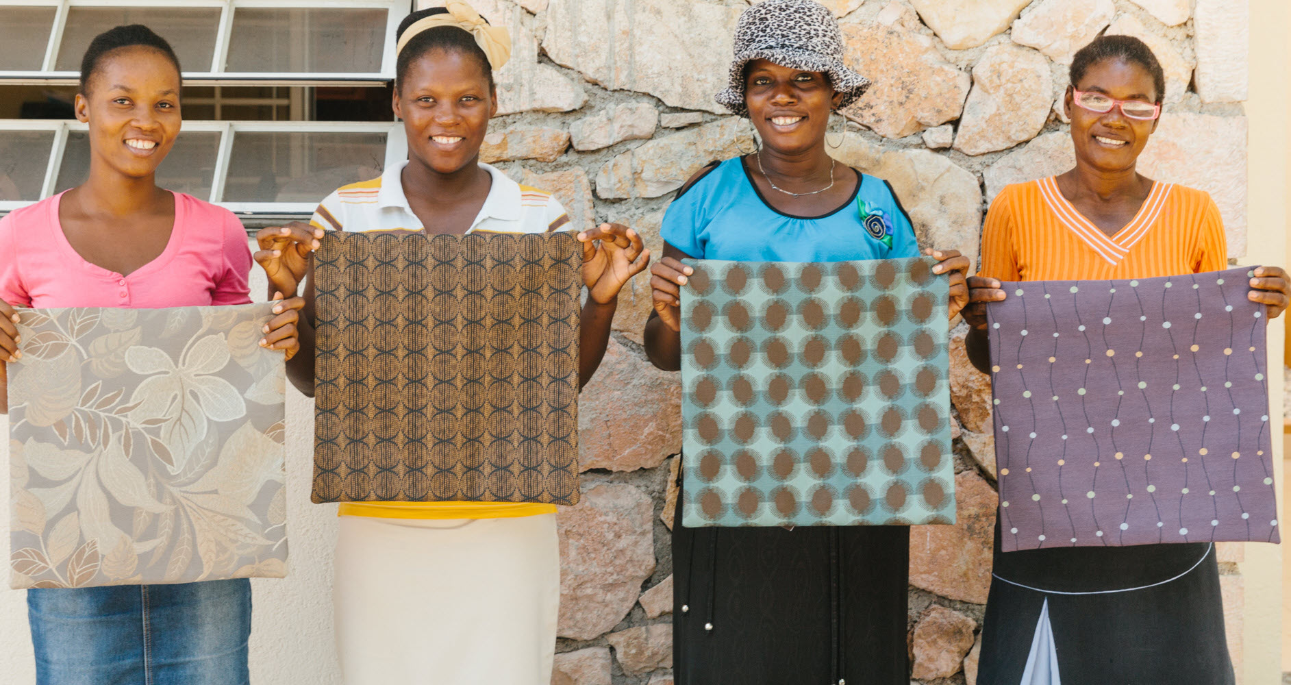 Herman Miller's textile scraps are diverted from landfills to instead fuel economic prosperity for struggling mothers in Port-au- Prince, Haiti. (Image © Herman Miller)