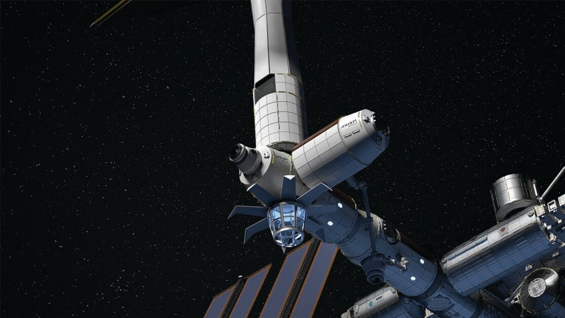 """The prospect of space tourism fires the imagination, and privately funded aerospace manufacturer and spaceflightservices company Axiom Space plans a 10-day excursion to the International Space  Station (ISS) in late 2021. In 2024, Axiom plans a series of missions to assemble a new, commercial space station. Initially attached to ISS, the station is designed break away from and replace the aging facility in the 2028-2030 time frame. """"We believe building a platform attached to ISS … is critically important to the success of growing an economy in low-Earth orbit,"""" Axiom CEO Michael Suffredini said. (Image © Axiom Space)"""