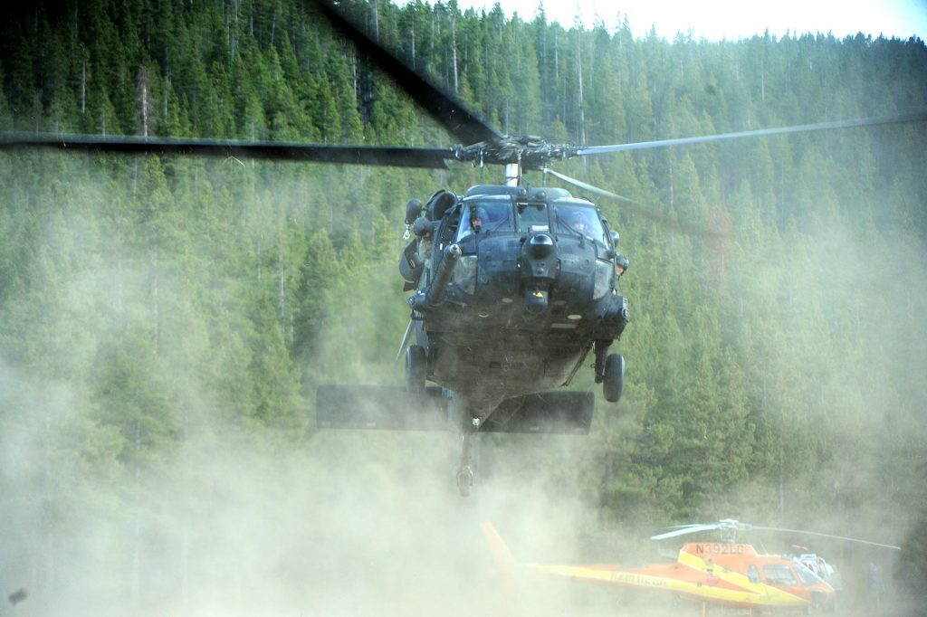 A project is underway at NIAR to create virtual twins of US Air Force aircraft, including the Black Hawk helicopter. Digitally scanning the airframe to create 3D models should help extend the life of aging aircraft. (Photo By Helen H. Richardson/The Denver Post via Getty Images)